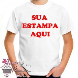 Camiseta Infantil Personalizada Com Sua Estampa