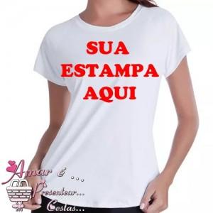 Camiseta Baby Look Feminina Personalizada Com Sua Estampa