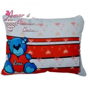 Mini Almofada Urso Love Dia dos Namorados