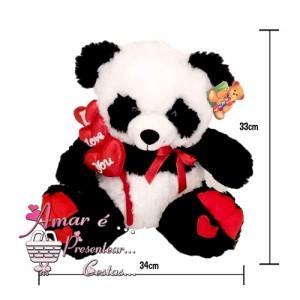 Urso Panda I Love You 33Cm
