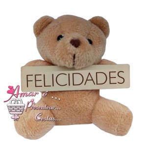 Ursinho Placa Felicidades